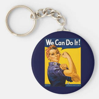 We Can Do It! Rosie the Riveter Vintage WW2 Key Ring