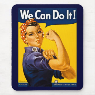 We Can Do It! Rosie the Riveter Vintage WW2 Mouse Mat