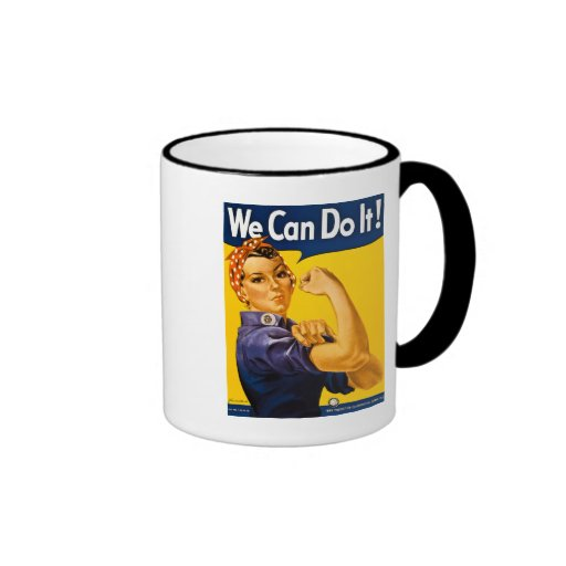 We Can Do It! Rosie the Riveter Vintage WW2 Mugs