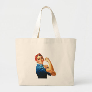 We Can Do It Rosie the Riveter Women Power Large Tote Bag