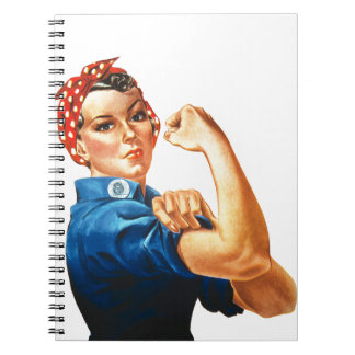 We Can Do It Rosie the Riveter Women Power Spiral Notebook