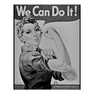"""""""We Can Do It!"""" Rosie the Riveter WWII Poster"""