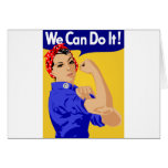 We Can Do It! Rosie The Riveter WWII Poster Greeting Card