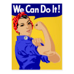 We Can Do It! Rosie The Riveter WWII Poster Postcard