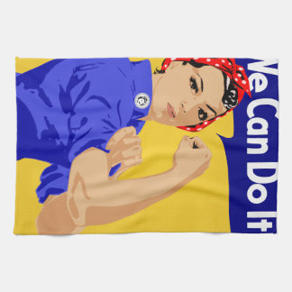 We Can Do It! Rosie The Riveter WWII Poster Tea Towel