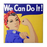 We Can Do It! Rosie The Riveter WWII Poster Ceramic Tile