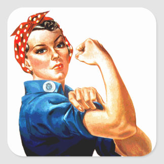 We Can Do It Rosie the Riveter WWII Propaganda Square Sticker