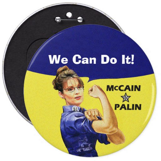 We Can Do It! Sarah Palin For Vice President 6 Cm Round Badge