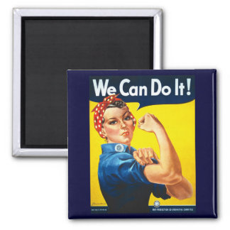 We Can Do It Square Magnet