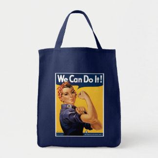 We Can Do it! Grocery Tote Bag