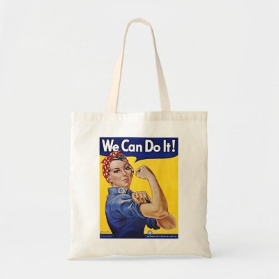 We Can Do It - Vintage Poster Image Canvas Bags
