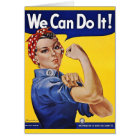 We Can Do It  - Vintage Poster Image Card