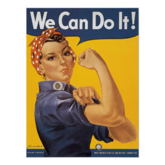 We Can Do It Vintage Print