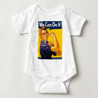 We Can Do It! Vintage Rosie the Riveter WW2 Baby Bodysuit