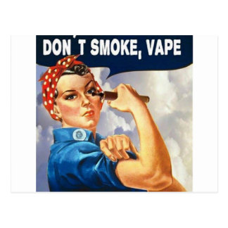 We can do it! We can Vape! Postcard