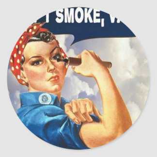 We can do it! We can Vape! Round Sticker