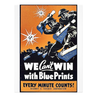 We Can t Win With Blue Prints Full Color Flyer