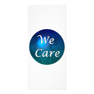 """We Care""- show you care, for any reason! 10 Cm X 23 Cm Rack Card"