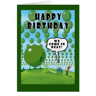 WE COME IN PEAS! CARD