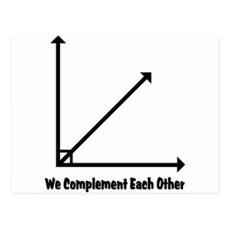 we complement each other postcard