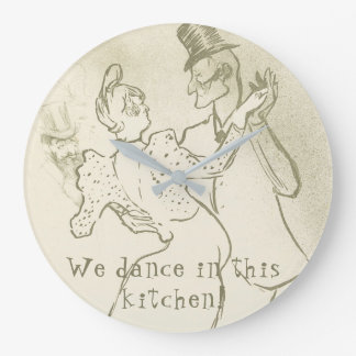We dance in this kitchen | Lautrec, Dancing couple Large Clock