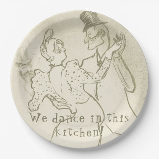 We dance in this kitchen | Lautrec, Dancing couple Paper Plate