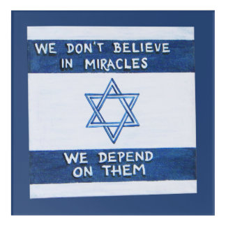 We Depend On Miracles Acrylic Print
