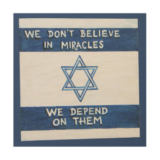 We Depend On Miracles Wood Wall Art