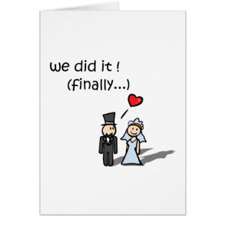 We Did It Card