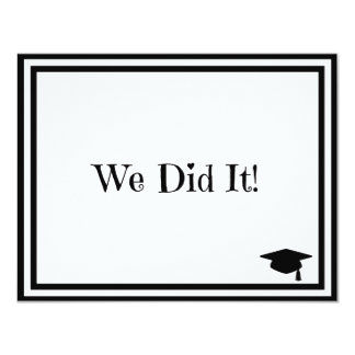 We Did It Graduation Card