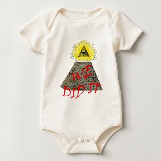 we did it (illuminati) baby bodysuit
