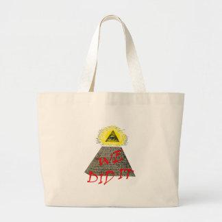 we did it (illuminati) tote bags