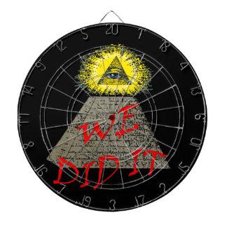 we did it (illuminati) dartboard