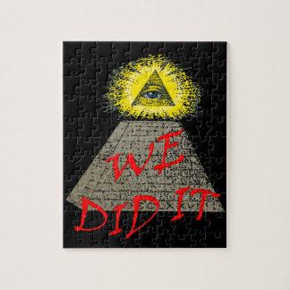we did it (illuminati) jigsaw puzzles