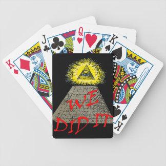 we did it (illuminati) poker cards
