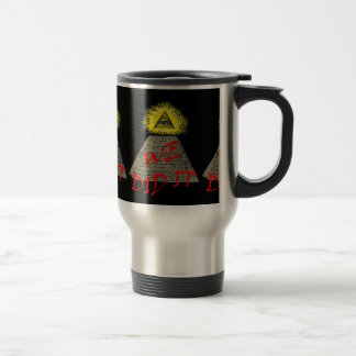 we did it (illuminati) travel mug