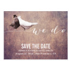"""We do"" Classy Grunge Love Birds Save the Date Postcard"