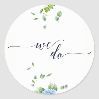 We Do Eucalyptus Hydrangea Garden Wedding Stickers