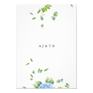 """We Do"" Eucalyptus Wedding Invitation Card"