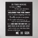 We Do Geek Poster - B/W