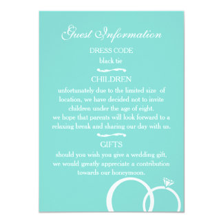 We Do! Guest Information 11 Cm X 16 Cm Invitation Card