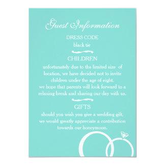 We Do! Guest Information 11 Cm X 16 Cm Invitation Card
