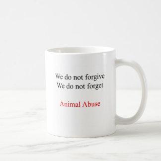We do not forgive basic white mug