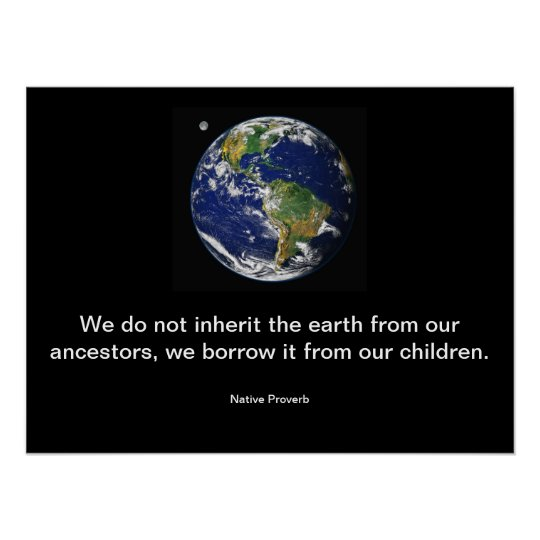 We do not Inherit the earth. Poster