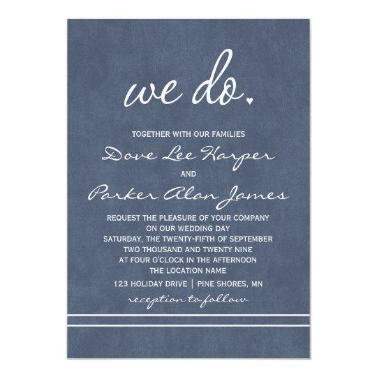 We Do Wedding Invitations │ Slate Navy