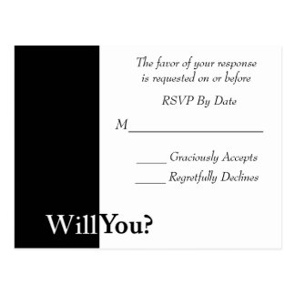 We Do Wedding RSVP Card Postcards