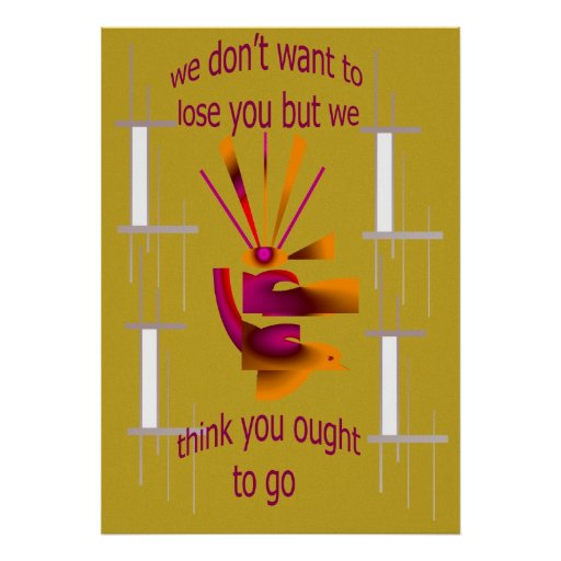 We don't want to lose you Poster