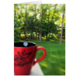We Drink Coffee With Our Eyes Note Card