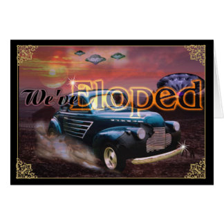 We Eloped - Chased by UFO Card