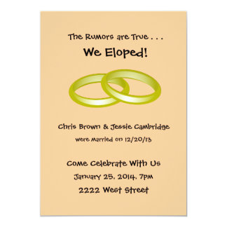 We Eloped Party Invitations is amazing invitation sample